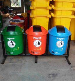 tong sampah fiber 60 liter, harga tempat sampah fiber, jual tong sampah fiber,