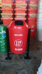 Tong sampah fiber 60 liter