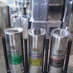 Tong sampah stainless 3 in 1 Bulat