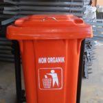 Tong sampah fiber single kotak 60 liter