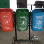 Tong sampah fiber 3 in 1 oval 50 liter