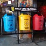 Tong sampah fiber 3 in 1 bulat 60 liter