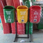 Tong sampah fiber 3 in 1 oval 40 liter