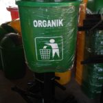 Tong sampah fiber single oval 40 liter