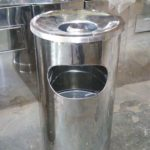Tong sampah stainless single (A)