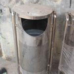 Tong sampah stainless single ( Z )