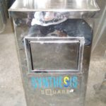 Tempat sampah stainless single ( D1 )