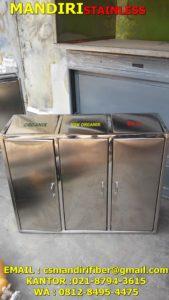 Tong sampah stainless lemari
