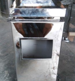 tong sampah stainless D
