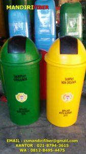 tong sampah fiber bulat, harga tong sampah fiber 80 liter, jual tong sampah fiber,