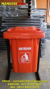 tong sampah fiber warna, jual tong sampah fiber kotak, tong sampah 50 liter