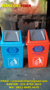 tempat sampah fiber kotak, jual tempat sampah fiber kotak tutup goyang,