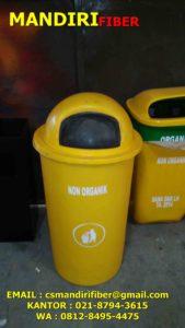 tong sampah fiber bulat, harga tong sampah fiber bulat, jual tong sampah fiber,