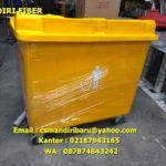 Tempat sampah fiber kapasitas 660 liter
