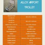 Trolley Bandara Alumunium