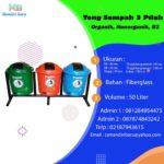 Tong sampah fiber 3 in 1 bulat 50 liter