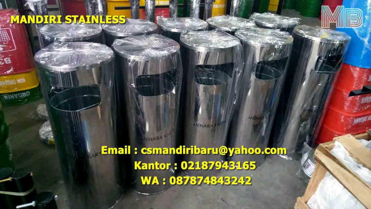 jual tong sampah stainless steel, harga tong sampah stainless