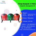 Tong sampah fiber 3 in 1 bulat 40 liter