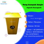 Tong sampah fiber kotak polos
