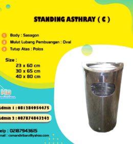 jual tempat sampah stainless, tong sampah stainless standing ashtray murah bogor, jakarta dan bandung