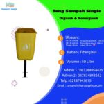 Tong sampah fiber single oval 50 Liter