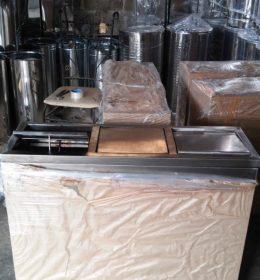 Tong sampah stainless gandeng