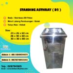 tempat sampah stainless asbak single ( D2 )