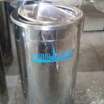 Tong sampah stainless single B2