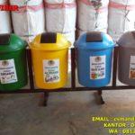 Tong sampah fiber 4 in 1 bulat 50 liter