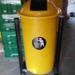 Tong sampah fiber bulat 80 liter