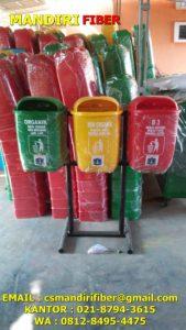 tempat sampah fiber oval