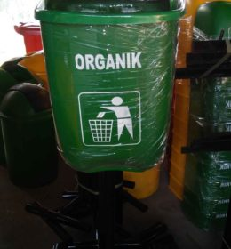 tong sampah fiber oval 40 liter