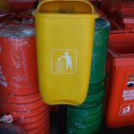 Tong sampah fiber single oval 60 liter