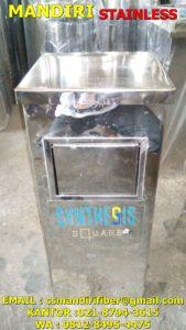 tong sampah stainless
