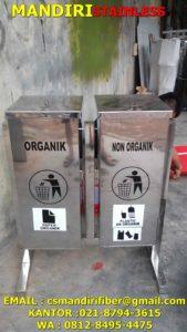Tempat sampah stainless kotak 2 in 1
