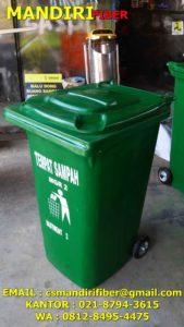 tempat sampah fiber beroda, jual tempat sampah fiber roda