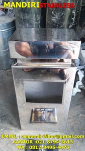jual tempat stainless, harga tong stainless, jual standing asthray,