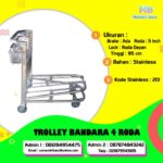 Troli Bandara 4 Roda With Brake