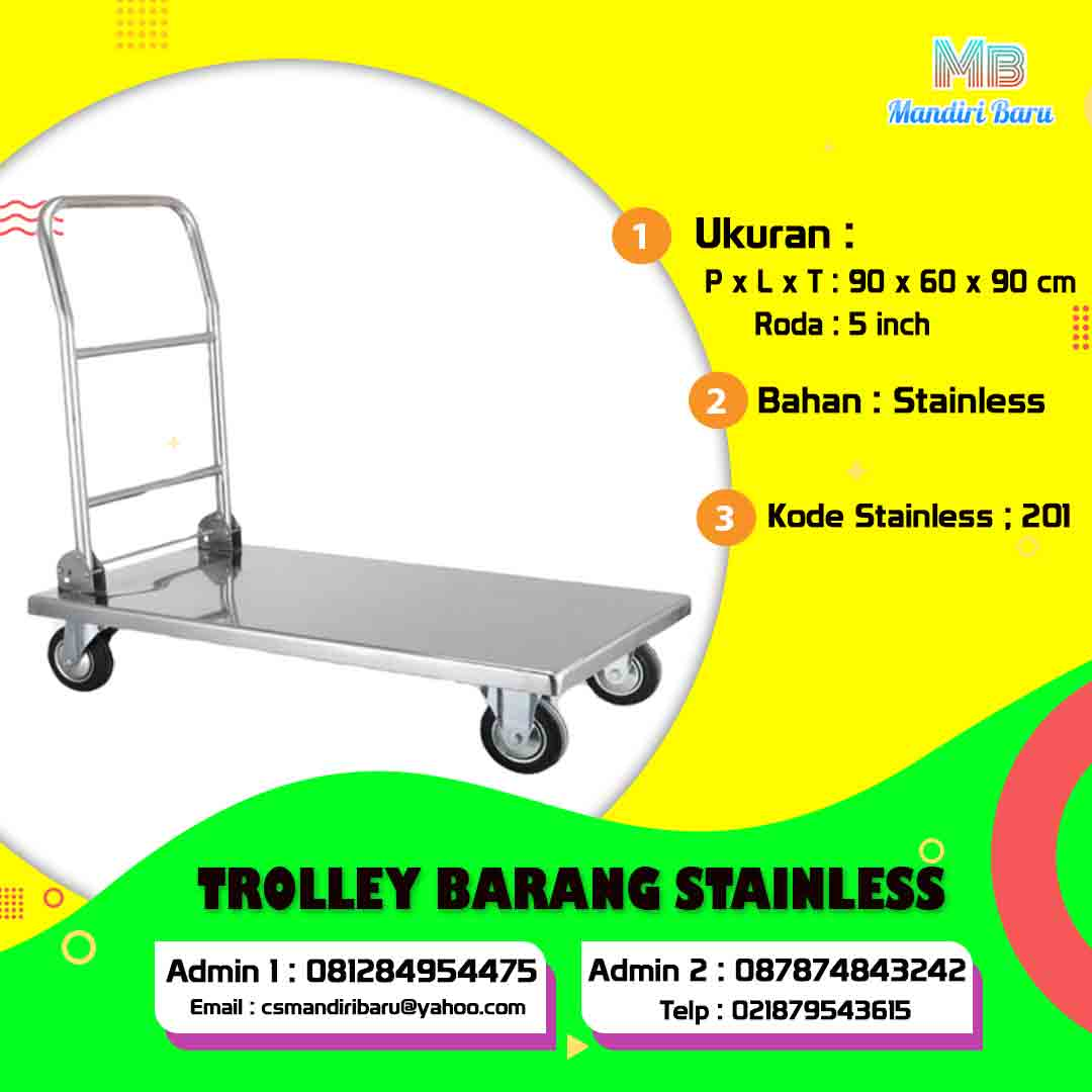 trolley barang, harga trolley barang, jual trolley barang, harga trolley barang di Bogor, jual trolley barang di Bandung, jual trolley barang di Surabaya, harga trolley barang di Palembang,