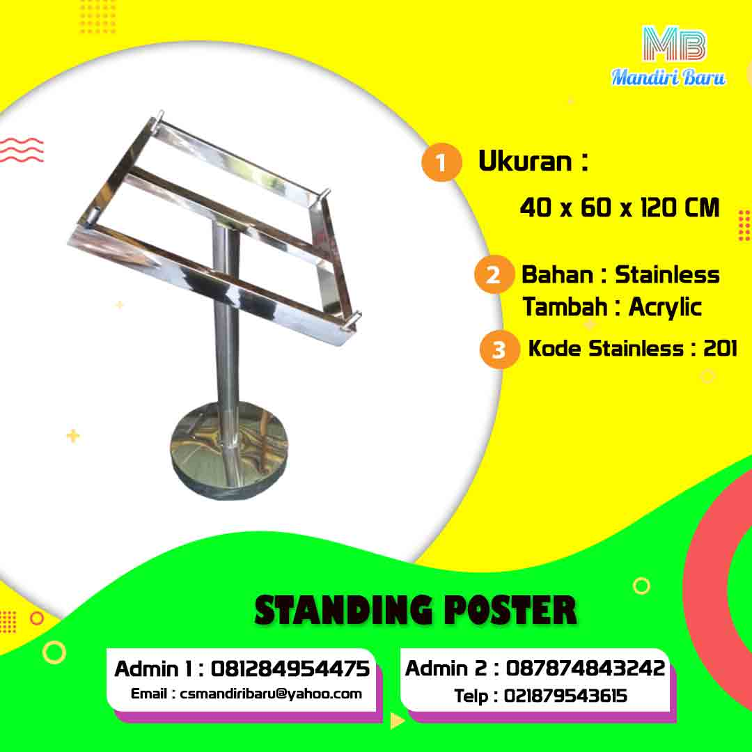 Jual standing poster, harga standing poster, harga standing poster murah jakarta bandung surabaya