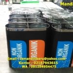 Tong sampah stainless 2 in 1
