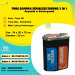 Tong Sampah Stainless Tabung 2 in 1
