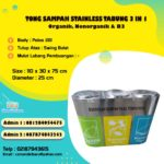 Tempat Sampah Stainless Tabung 3 in 1