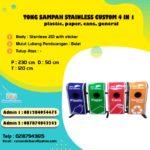 Tong sampah stainless  gabung 4 in 1