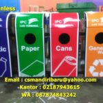 Tong sampah stainless x gabung 4 in 1