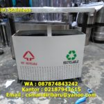 Tong sampah stainless custom 2 in 1