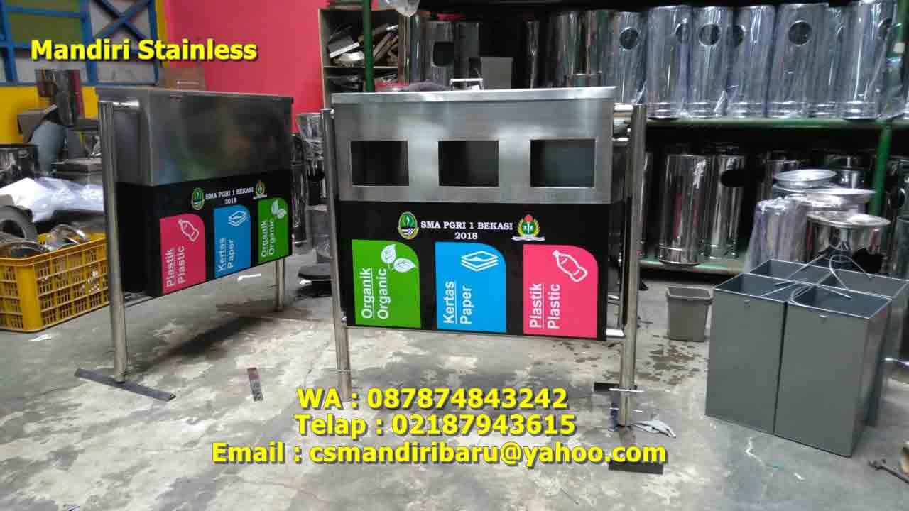 Tong sampah stainless, jual tong sampah stainless, harga tempat sampah stainless,