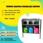 Tong sampah stainless Custom 3 in 1