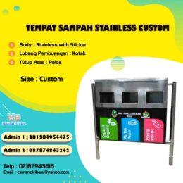 tong sampah stainless, harga tempat sampah stailess custom, harga tong sampah stainless, jual tong stainless, tong sampah stainless steel di Jakarta, tong sampah stainless di Surabaya,