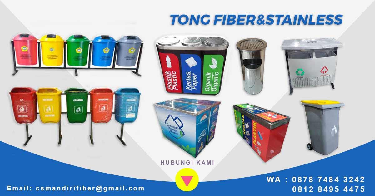 jual tong sampah fiber, harga tong sampah fiber, tempat sampah stainless di surabaya,